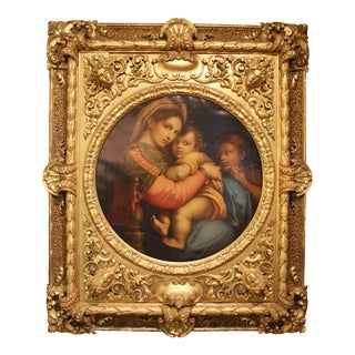 """""""Madonna and Child and Young Saint John"""" Oil Painting For Sale"""