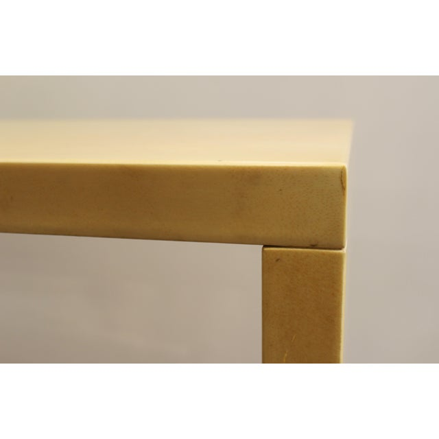 Modern Lacquered Goatskin Console Table Attributed To Karl Springer For Sale - Image 12 of 13