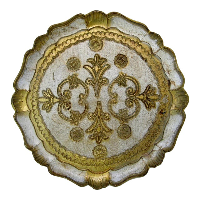 Florentine Wood Tray - Image 1 of 6