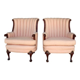 Vintage Pink Armchairs - a Pair For Sale