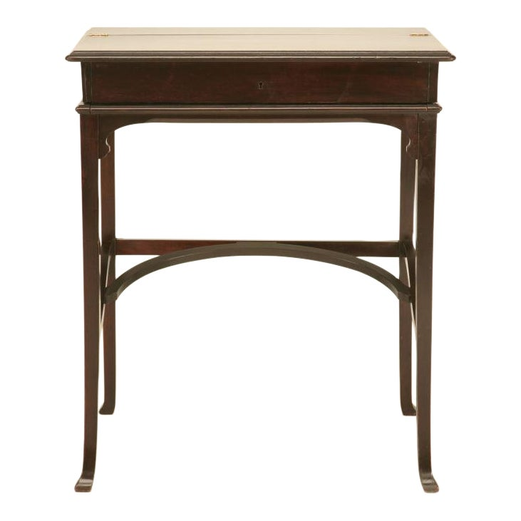 Exceptional C 1890 Antique Austrian Gany Flip Top Campaign Desk Decaso