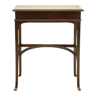 c.1890 Antique Austrian Mahogany Flip-Top Campaign Desk For Sale