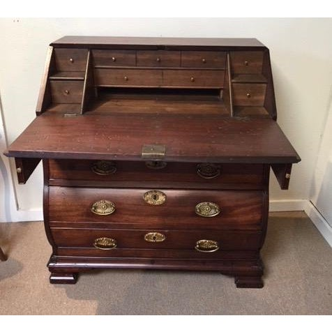 19th Century Traditional Bombe Desk/Chest of Drawers For Sale - Image 4 of 13