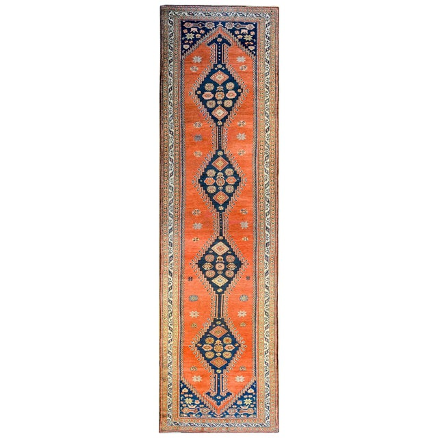 Textile Wonderful Late 19th Century Antique Azari Rug For Sale - Image 7 of 7