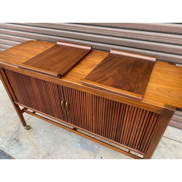 Wood Kipp Stewart for Drexel Declaration Mid Century Modern Serving Cart For Sale - Image 7 of 12