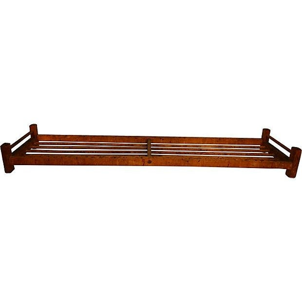 Wooden Dowel Industrial Shoe Rack - Image 2 of 3