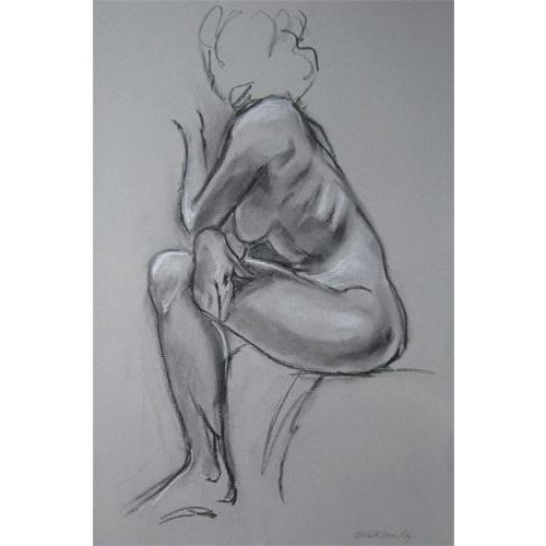 Kathleen Ney Original Charcoal Drawing For Sale