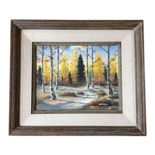 Autumn Aspens Original Painting For Sale