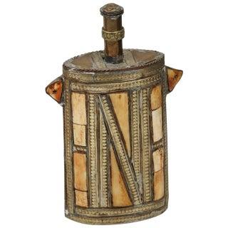 Moroccan Brass Berber Tribal Gun Powder Flask For Sale