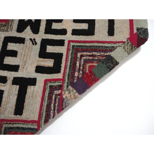 """Hand-Hooked Rug on Mounted Frame """"EAST WEST HOME'S BEST"""" - Image 6 of 7"""