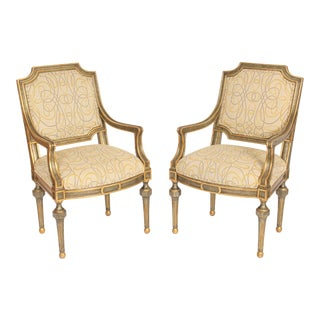Pair of John Richards Louis XVI Style Armchairs For Sale