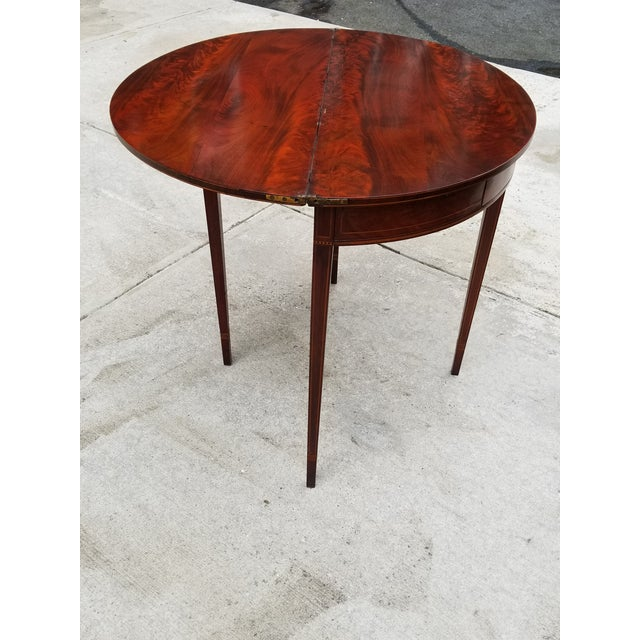 English Traditional Antique Rosewood Hepplewhite Card Table For Sale - Image 3 of 13