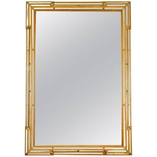 Giltwood Frame Beveled Mantel Hanging Wall Mirror For Sale