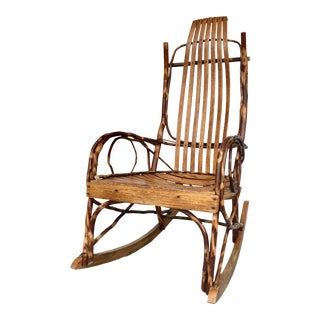 Studio Branch and Wood Rocking Chair For Sale