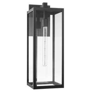 Uptown 1 Light Outdoor Wall Sconce, Black (Aluminum) For Sale