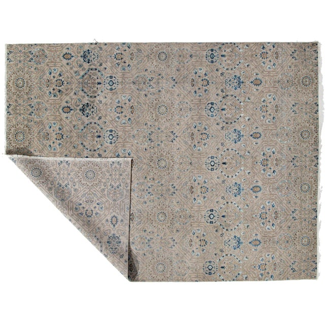 Contemporary Pasargad DC Modern Erased Design Silk &Wool Rug - 9′ × 12′ For Sale - Image 3 of 5