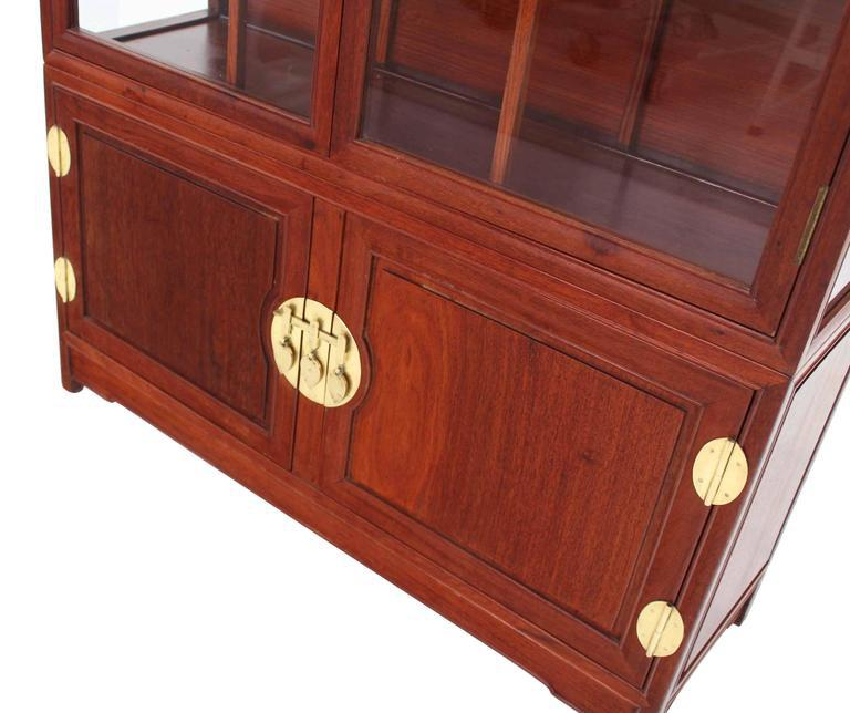 Mid Century Modern Oriental Display Cabinet With Brass Hardware   Image 3  Of 9