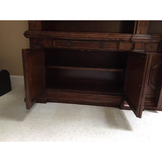 Brown Lighted Library Wall Unit For Sale - Image 8 of 8