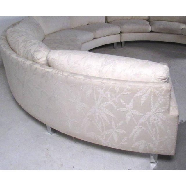 1970s Milo Baughman Mid-Century Circular Sofa For Sale - Image 5 of 10