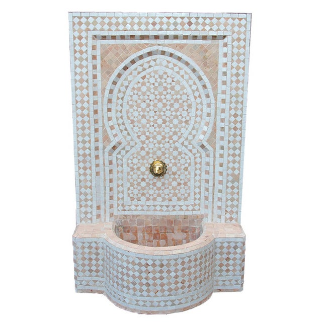 Moroccan Tile Wall Fountain - Image 1 of 4