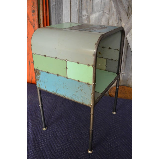 Locally-Sourced Reclaimed Steel Bedside Table - Image 2 of 10
