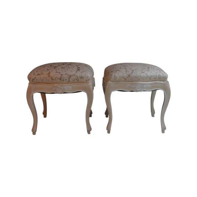 Louis XV Footstools -- A Pair For Sale