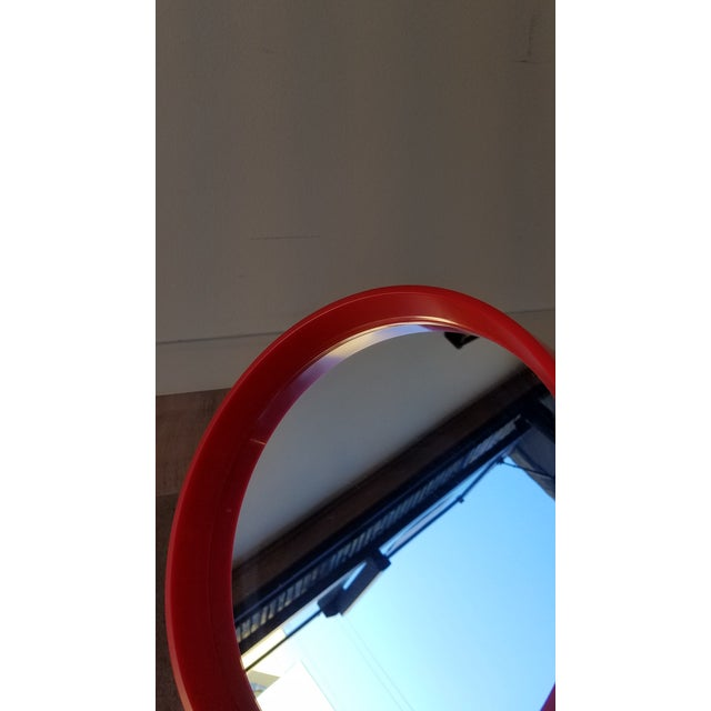 1970s Red Danish Termotex Tilt Table Mirror For Sale In Seattle - Image 6 of 9