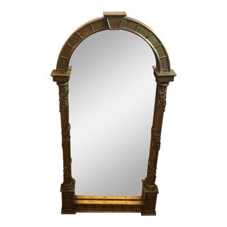 Vintage Gilt Wood Neoclassical Mirror For Sale