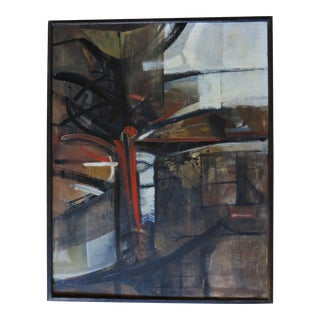 Abstract Expressionist Mid-Century Bay Area Painting by Tom Ide For Sale