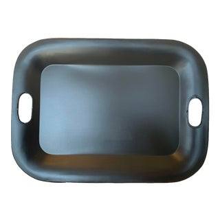 Small Black Metal Tray With Handles For Sale