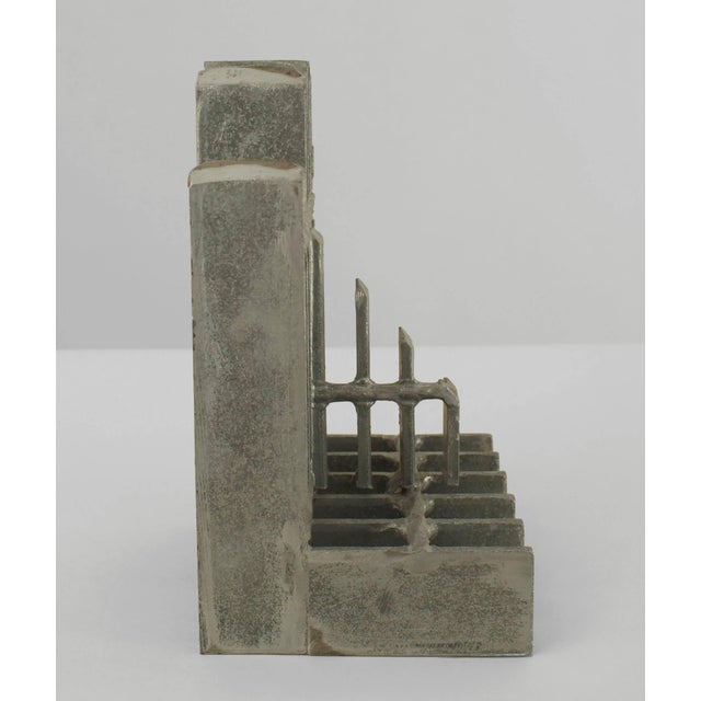 Brutalist Pair of Mid-Century American Brutalist Style Bookends For Sale - Image 3 of 5
