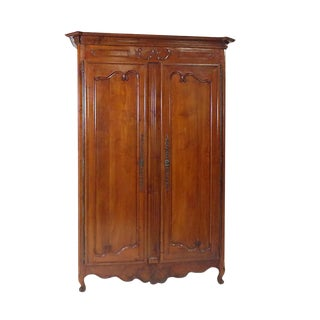 Late 18th Century Louis XVI Fruitwood Armoire For Sale