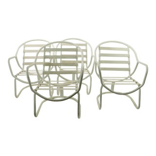 1980s Patio Garden Poolside Chairs by Winston Furniture - Set of 4 For Sale