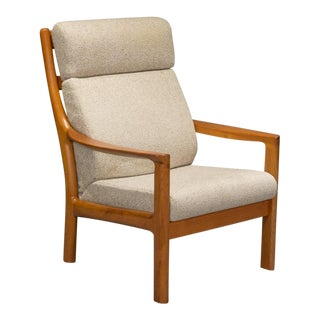 1960s Teak High Back Armchair by Johannes Andersen for CFC Silkeborg For Sale