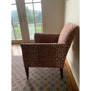 1940s Vintage Thibaut Red Leopard Print Chair Preview