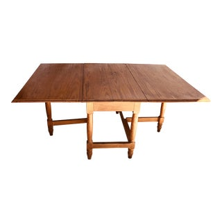 Antique Heart Pine Drop Leaf Dining Table For Sale