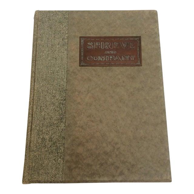 Shreve & Company Bronze Plaque Catalog Book For Sale