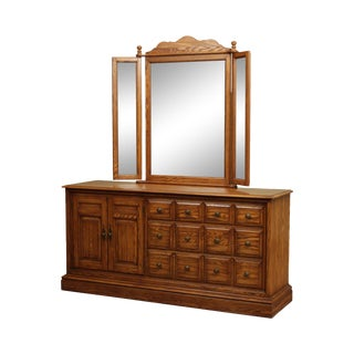 Pennsylvania House Vintage Oak Dresser With Mirror For Sale