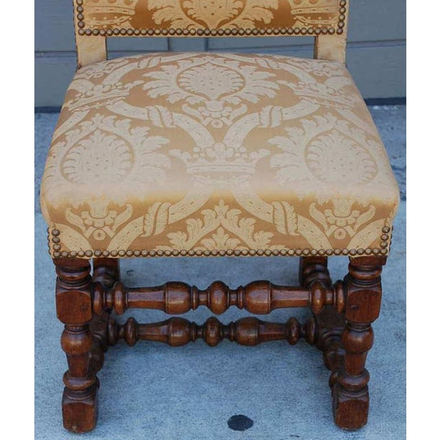 1940s Pair of Exceptional French Gold Chairs For Sale - Image 5 of 7