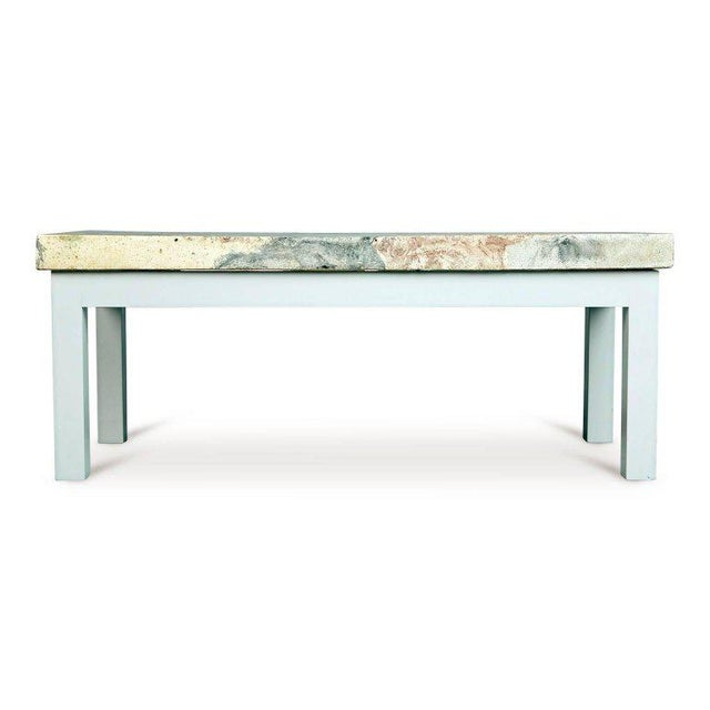 Contemporary Rose, Pink and Grey Marbleized Concrete Coffee Table, Italy, Circa 1950 For Sale - Image 3 of 11