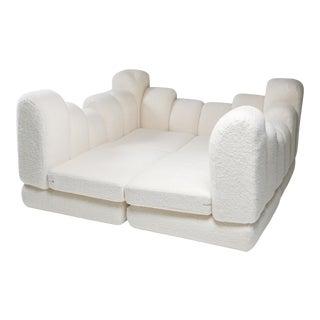 Hans Hopfer 'Dromedaire' Sectional Sofa in Pierre Frey Wool, Roche Bobois - 1974 For Sale