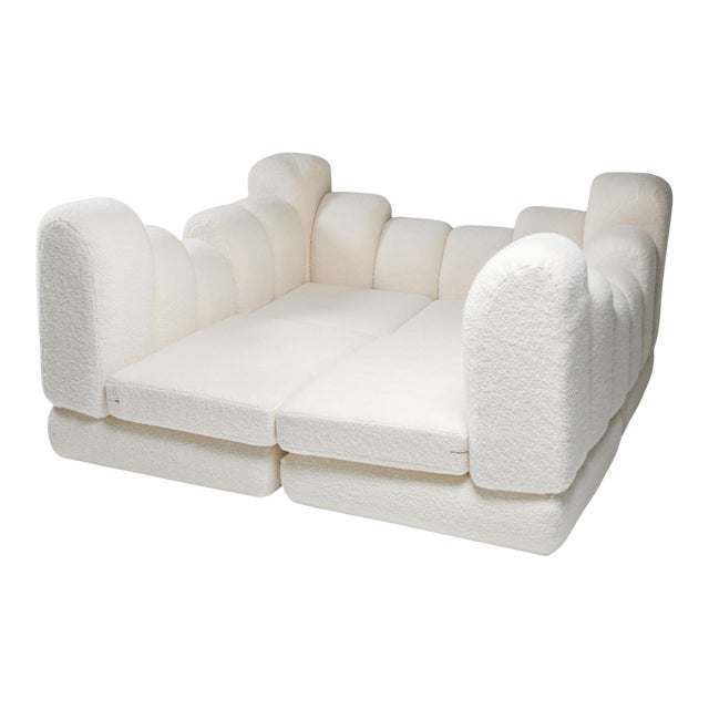 Hans Hopfer 'Dromedaire' Sectional Sofa in Pierre Frey Wool, Roche Bobois - 1974 For Sale
