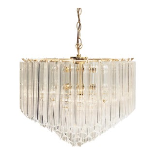 Hollywood Regency Five-Tier Lucite Chandelier For Sale