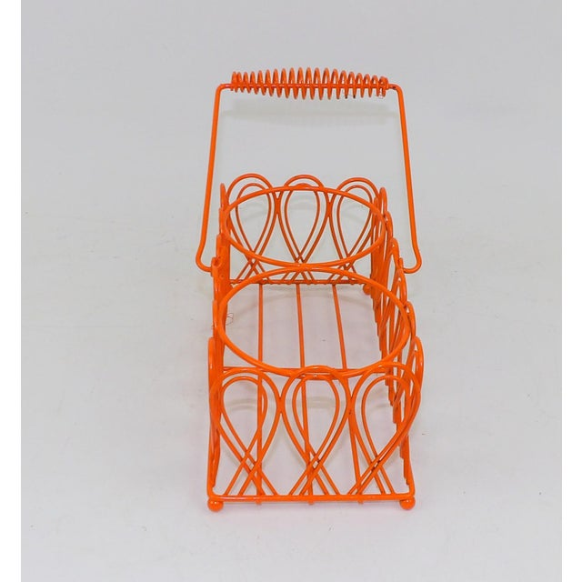 Vintage Orange Wine Bottle Rack For Sale In Sacramento - Image 6 of 8