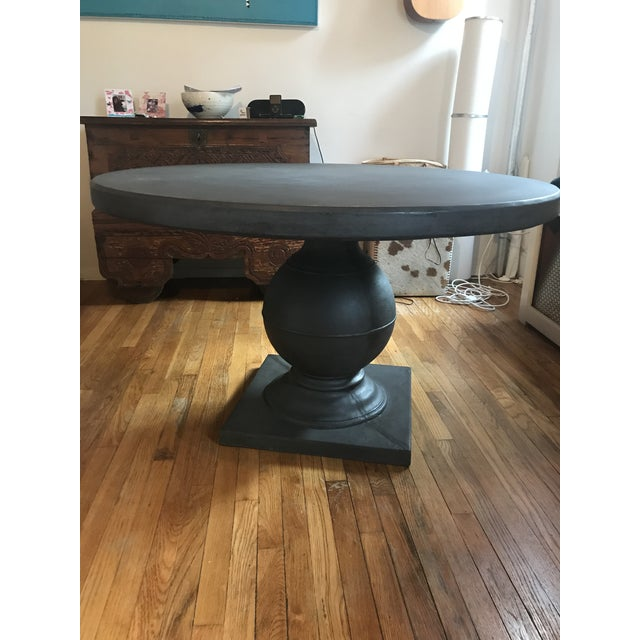 Grey Concrete Round Dining Table For Sale - Image 10 of 11