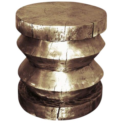 Customizable Cast Bronze Stool/Table designed by Craig Van Den Brulle For Sale