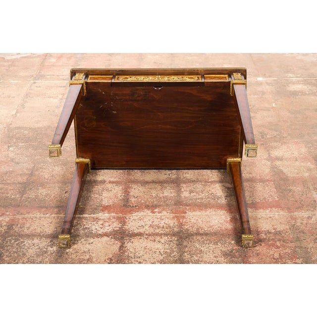 19th C. Louis XVI Bronze Mounted French Side Table - Image 10 of 10