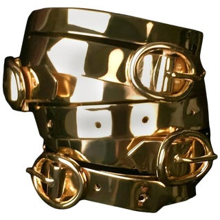 Ambre Et Louise Gold Buckle Cuff For Sale
