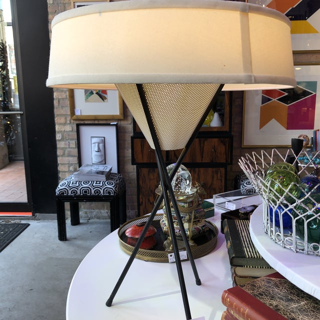 Lightolier Gerald Thurston for Lightolier Tripod Lamp For Sale - Image 4 of 6