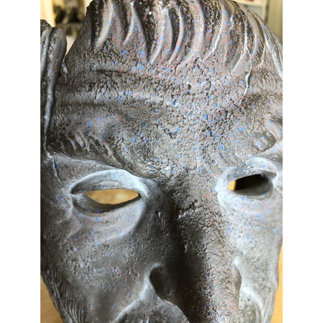 Hellenic Style Plaster Bust on Stand For Sale In Atlanta - Image 6 of 13